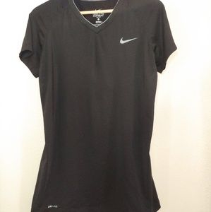Nike Pro Combat Dri Fit Vneck Tee Fitted 883939